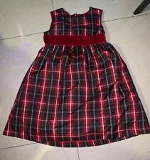 Girls Gymboree Red Striped Christmas Dress Size 5