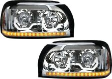 Freightliner Century Chrome Projection Headlights LED Accent and Turn Signal