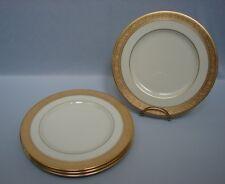 "Set of 4 Lenox WESTCHESTER 8-3/8"" Salad Plates - Wide Gold Encrusted Band"