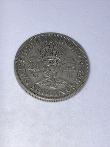 1938 florin, two shillings, George VI, good condition, 0.50 silver