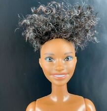Mattel Barbie Fashionistas Black African American Doll Short Curly Hair Nude Aa