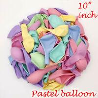 100pcs 10'' Pastel Latex Balloons Macaron Candy Mixed Colored Party Ballon UK