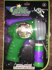 Disney Toy Story Buzz Lightyear Space Ranger Bubble Blower Gun Lights And Bubble