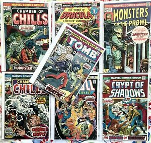 Large Lot Fine Comics, Chamber of Chills 2,4, Dracula, Monsters, Tomb, Crypt...