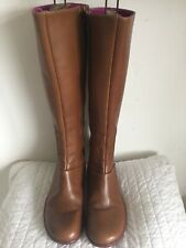 CAMPER BOOTS  SIZE 7 (40) BROWN LEATHER FLAT  WOMENS LADIES BOOTS SHOES