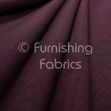 New Soft Textile Linen Look Chenille Upholstery Curtains Purple Fabric Material