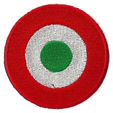 Patch Patched Roundel Italy Thermoadhesive Applied Embroidered Aviation