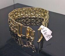 """New 10K Yellow Gold Men's Nugget Link Bracelet 8"""" With Custom Lock, Men's/ Women"""