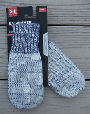 Nwt Under Armour ColdGear Shimmer Knit Yth Girls Mittens-Osfm @$20 Gray/Purple