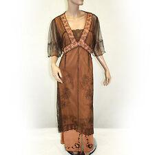 NEW NWT Nataya Plus Size Vintage Titanic Gown Lace Terracotta Dress Slip Set 1X