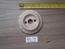 A CRACKLE GLAZED CERAMIC DOOR KNOB BACK PLATE 58 MM OLD UNUSED STOCK  BPl 19
