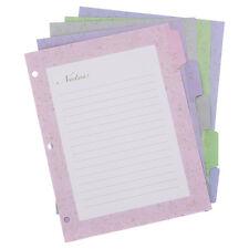 Wilson Jones Pink Ribbon Decorative Tab Dividers, 8.5 x 11, Assorted, 5/Pack