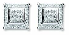 18CT WHITE GOLD 0.25 CTS G SI1 DIAMOND SQUARE SHAPE STUD EARRINGS