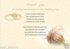 THANK YOU - WEDDING MAKEUP (laminated gift)