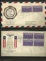 #835 FDC Rice and Fidelity cachets, 2 covers