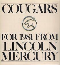 Mercury Cougar 1981 USA Market Sales Brochure 2-dr 4-dr GS LS XR-7