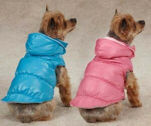 Dog Snow Lodge Vest Jacket Coat Fleece Lined  Pink  Blue Rain Raincoat XXS-L