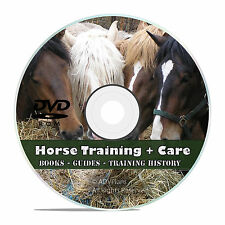 Vintage Horse Training Library, 175 Books, Race Horse Care, Make Harness DVD V44