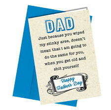 Greetings Card Comedy Rude Funny Humour Fathers Day Dad Card #183