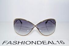 Tom Ford Authentic Miranda Gold Black Oversized TF130 28B 68mm Sunglasses