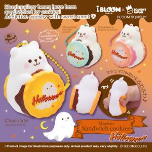 Ibloom Squishy Marmo Halloween Cookie Sandwich Marshmallow Bear Squeeze NEW