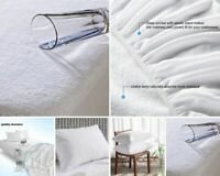 King Size Waterproof Mattress Protector Terry Fitted Mattress Cover 100% Cotton