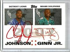 Calvin Johnson-Ted Ginn Jr-Bowe-Meachem 2007 Topps Rookie Premiere Red Autograph