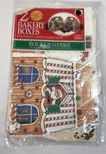 Christmas Bakery Box Set of 2  Made in USA Poly lined