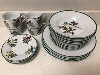 National Wildlife Federation Birds 20 piece Dinnerware Set China Vintage