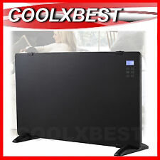 NEW PREMIUM BLACK GLASS PANEL HEATER 2000w TOUCH CONTROL WALL MOUNT / PORTABLE