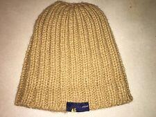 Etnies Beige Brown Ribbed Knit Beanie Ski Hat Cap Snow Acrylic
