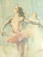 Vintage Pal Fried Ballerina Royal Ballet Framed Lithograph Print Reproduction