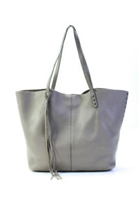 Rebecca Minkoff  Pebbled Leather Large Tote Handbag Taupe