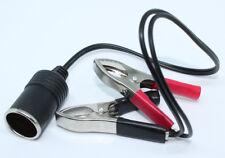 12V DC Battery Terminal Clip-on Cigarette Lighter Power Socket Adapter 12V/100W