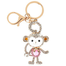 Long Tail Monkey Lovely Fashion Cute Crystal Purse Bag Key Chain Gift
