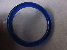 "Beautiful Old Cobalt Blue Peking Glass Very Small Bangle Bracelet 2-1/8"" inside"