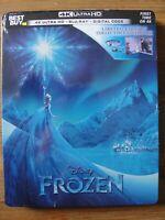 Disney FROZEN Steelbook 4K Ultra HD + Blu-Ray + Digital Code Brand New