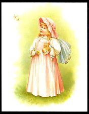 """New Post Card Drawings by Ida Waugh Mammy's Baby Published in 1890 5 1/2"""" x 7""""."""