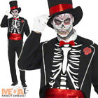 Skeleton Voodoo Mens Halloween Day of the Dead Fancy Dress James Bond Costume