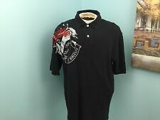 Tommy Hilfiger Black S/S Polo With Large Emblem Over Right Shoulder