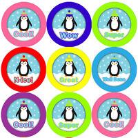 144 Proud Penguins 30mm Kid's Reward Stickers for Teacher, Parent