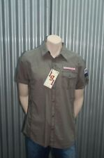 191 Unlimited S/S Army Green Military Button-Up NWT XL