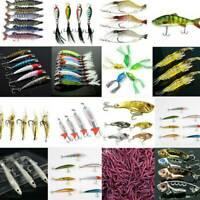 Minnow Shrimp Frog Fishing Lure Bass Crank Bait Hooks Fish Crankbait Tackle Tool