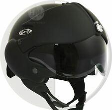 Cara abierta casco de motocicleta osbe GPA aviones Tornado Negro S 55-56 Cm