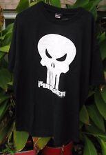 "THE PUNISHER Marvel Comics ""XL"" White Logo w/ Black Background SS TEE SHIRT"