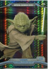 Star Wars Chrome Perspectives Prism Refractor Parallel Base #11E Yoda