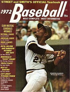 1972 Street & Smith's Baseball magazine, Roberto Clemente, Pittsburgh Pirates VG