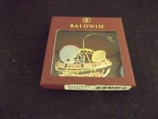 Ohio State University  Brass Football & Helmet Ornament! BALDWIN