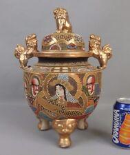 ancien brûle parfum en céramique de Satsuma antique japanese incense burner