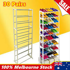 10Tiers 30Pairs Extendable Shoe Storage Rack Holder Stand Cabinet Organiser